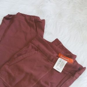 Anthropology Cartonnier burnt red relaxed pants